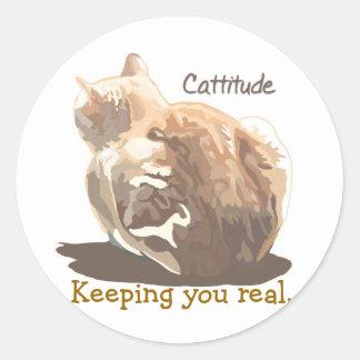 Etiqueta engomada Cattitude