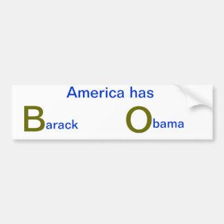 Etiqueta engomada de parachoques de Anti-Obama Pegatina Para Auto