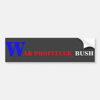 Etiqueta engomada de parachoques de BUSH del Pegatina Para Auto