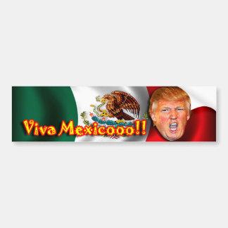 Etiqueta engomada de parachoques de Viva México Pegatina Para Auto