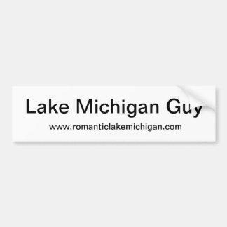 Etiqueta engomada de parachoques del lago Michigan Pegatina Para Auto