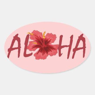 Etiqueta engomada del hibisco de la hawaiana