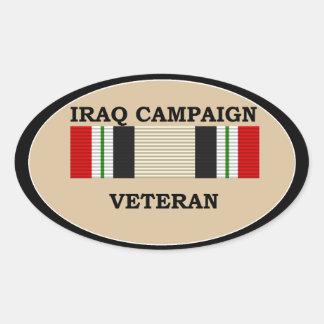 Etiqueta engomada del veterano de la campaña de Ir