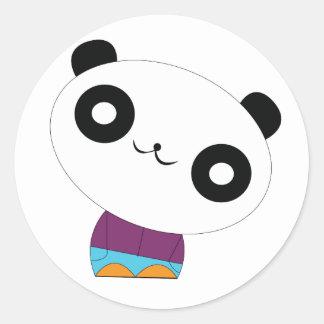 Etiqueta engomada desapasible de la panda del