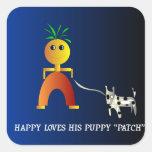 Etiqueta engomada feliz y de Patch> de los niños