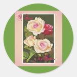 Etiqueta engomada un color de rosa