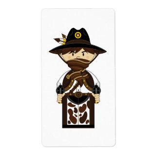 Etiqueta enmascarada del pegatina del sheriff del  etiquetas de envío