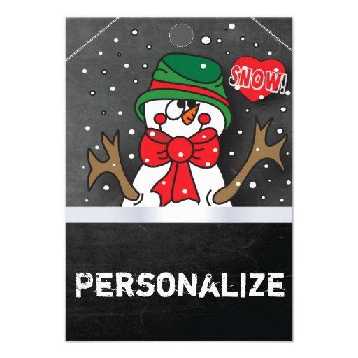 Etiqueta enorme del muñeco de nieve