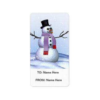 Etiqueta escarchada del regalo de Navidad Etiquetas De Dirección