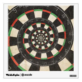 Etiqueta espiral de la pared del efecto de Droste Vinilo