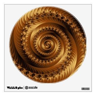 Etiqueta espiral de oro juliana de la pared vinilo decorativo