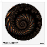 Etiqueta espiral negra de la pared del fractal vinilo adhesivo