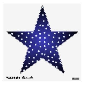Etiqueta estrellada de la pared de la estrella vinilo decorativo