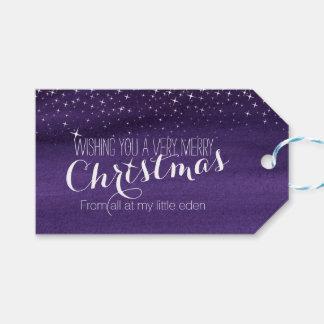 Etiqueta estrellada del regalo del cielo nocturno etiquetas para regalos