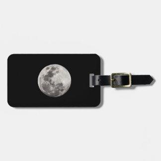 Etiqueta estupenda del equipaje de la luna en etiquetas maletas