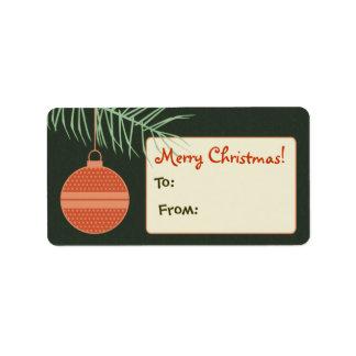 Etiqueta/etiqueta personalizadas del regalo del or etiquetas de dirección