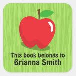 Etiqueta/etiqueta rojas del libro del bookplate de