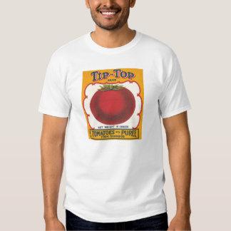 Etiqueta excelente del vintage de los tomates poleras
