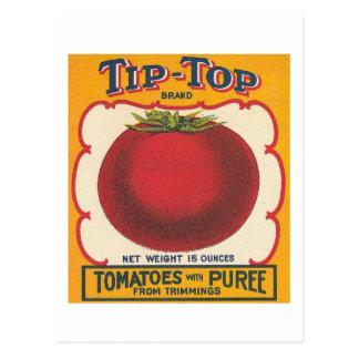 Etiqueta excelente del vintage de los tomates tarjetas postales