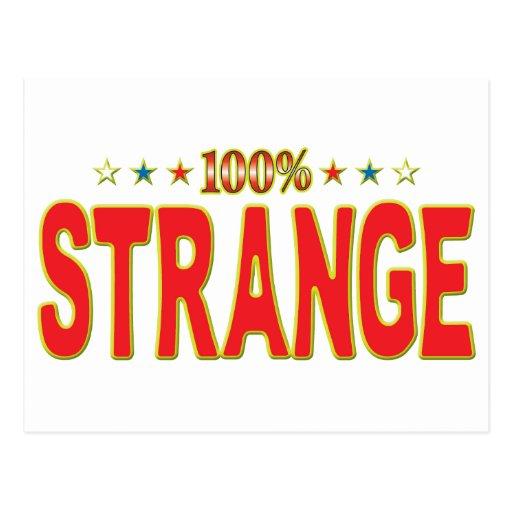 Etiqueta extraña de la estrella tarjeta postal