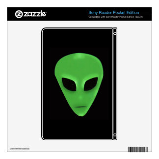Etiqueta extranjera verde fantasmagórica del diseñ skins para sony reader