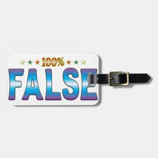 Etiqueta falsa v2 de la estrella etiquetas para maletas