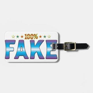 Etiqueta falsa v2 de la estrella etiquetas bolsa