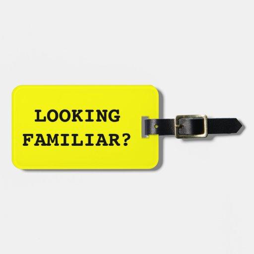 Etiqueta familiar del equipaje para los bolsos y
