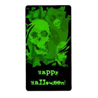 Etiqueta feliz de Halloween de los espectros del Etiqueta De Envío
