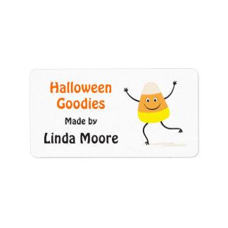 Etiqueta feliz de la cocina de Halloween del Etiqueta De Dirección