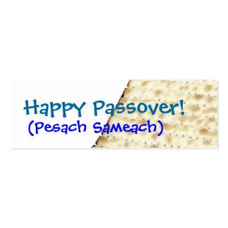 Etiqueta feliz del regalo del Matzoh del Passover Tarjetas De Visita Mini