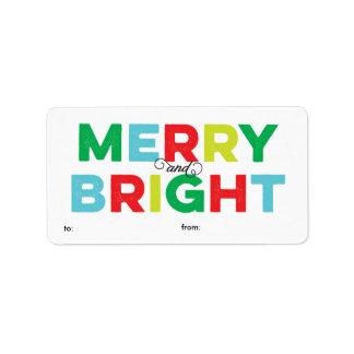 Etiqueta feliz y brillante colorida moderna del etiqueta de dirección