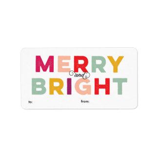 Etiqueta feliz y brillante colorida moderna del etiquetas de dirección