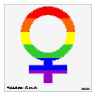 Etiqueta femenina de la pared de la muestra del gé
