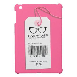 Etiqueta femenina del friki iPad mini carcasas