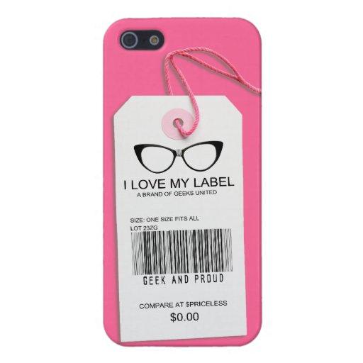 Etiqueta femenina del friki iPhone 5 cobertura
