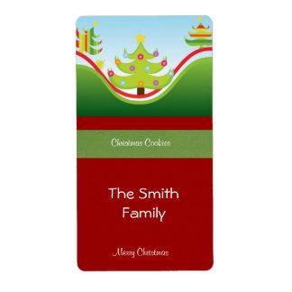 Etiqueta festiva del regalo del navidad etiquetas de envío