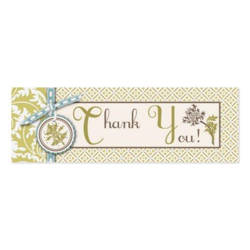 Etiqueta flaca con clase del regalo de la aceituna tarjetas de visita mini
