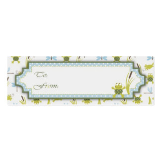 Etiqueta flaca del regalo de Ribbit Tarjetas De Visita Mini