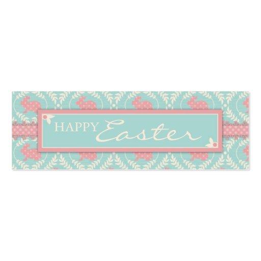 Etiqueta flaca del regalo del conejito elegante tarjetas de visita mini
