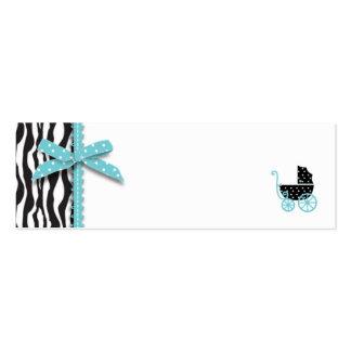 Etiqueta flaca del regalo del muchacho elegante de plantilla de tarjeta personal