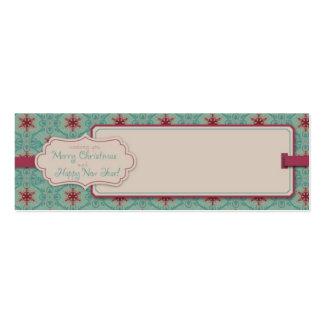 Etiqueta flaca del regalo del navidad con clase tarjetas de negocios