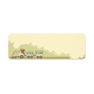 Etiqueta flaca del regalo del tren de Choo Choo Etiquetas De Remite