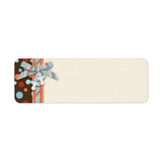 Etiqueta flaca OBB del regalo del muchacho Etiquetas De Remite