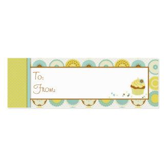 Etiqueta flaca retra dulce del regalo tarjetas de visita mini