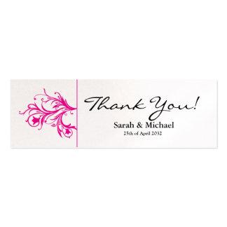 Etiqueta floral blanca y rosada del regalo del fav plantilla de tarjeta de negocio
