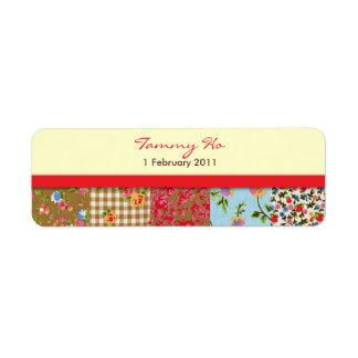 Etiqueta floral de la fiesta de bienvenida al bebé etiquetas de remite