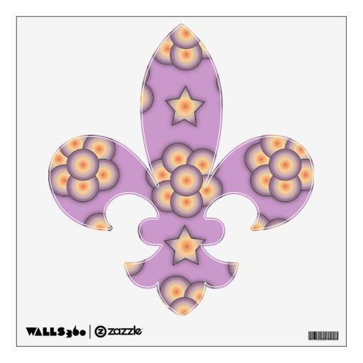 Etiqueta floral de la pared de la flor de lis