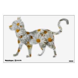Etiqueta floral de la pared de los gatos de las ma vinilo