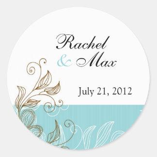 Etiqueta floral del boda